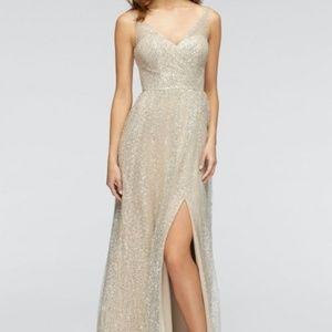 Watters Sequin Bobbi Net Gown